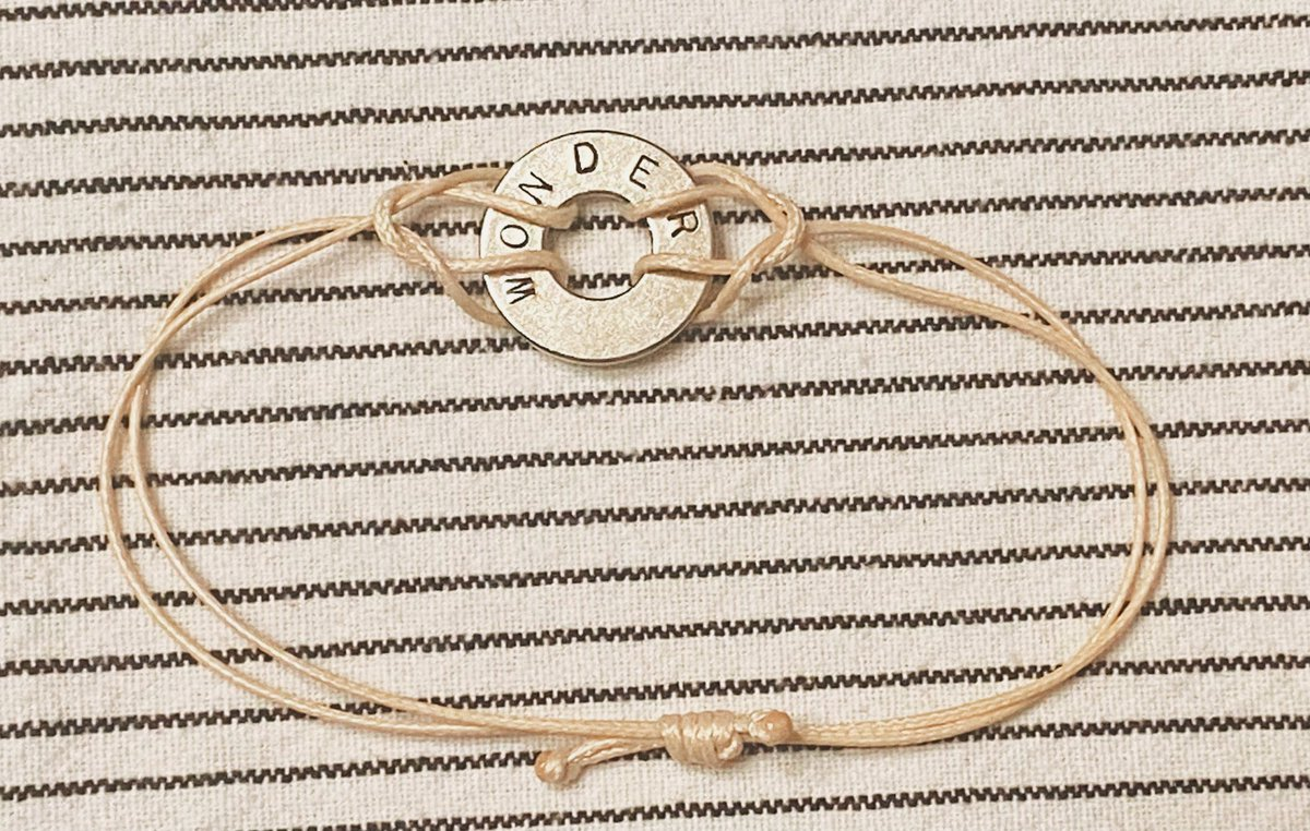 "hey @ShawnMendes, I made this engraved ""wonder"" bracelet! I hope you like it! #WONDER"