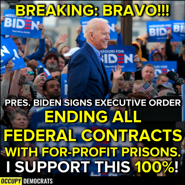 This is what I'm talking about @JoeBiden! Thank you! #PrivatePrisons have needed to go for some time! Now for us to do something about private teen prisons or the out of control #TroubledTeenIndustry. Teens matter! Let's #SaveOurTeens #BreakingCodeSilence #SpareTheRod #TTI