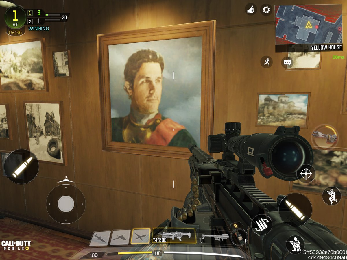 Sitting here playing some @PlayCODMobile and who do I see a picture of on the wall in the Russia level? Is that him? @paulruddcom #PaulRudd #calloffutymobile
