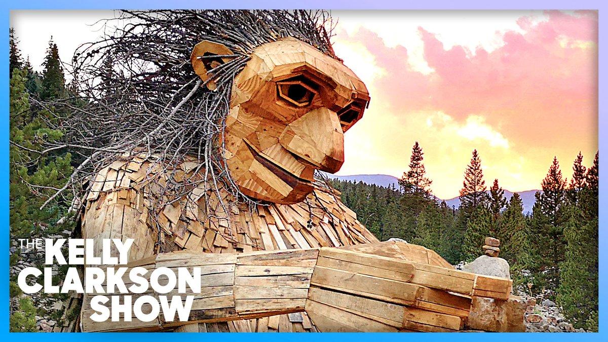 Danish Artist Transforms Trash Into Larger-Than-Life Troll Sculptures  WATCH:   #KellyClarksonShow