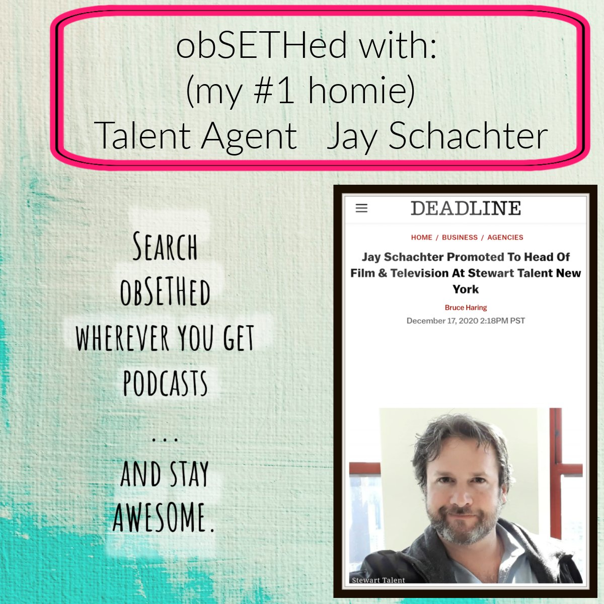 ...and now, back to my podcast. @StewartTalent Head of TV and Film, Jay Schachter (the best of the best) #acting #auditions #obsethed #goodfriends #NewYorkCity https://t.co/wtSc3tqAtl