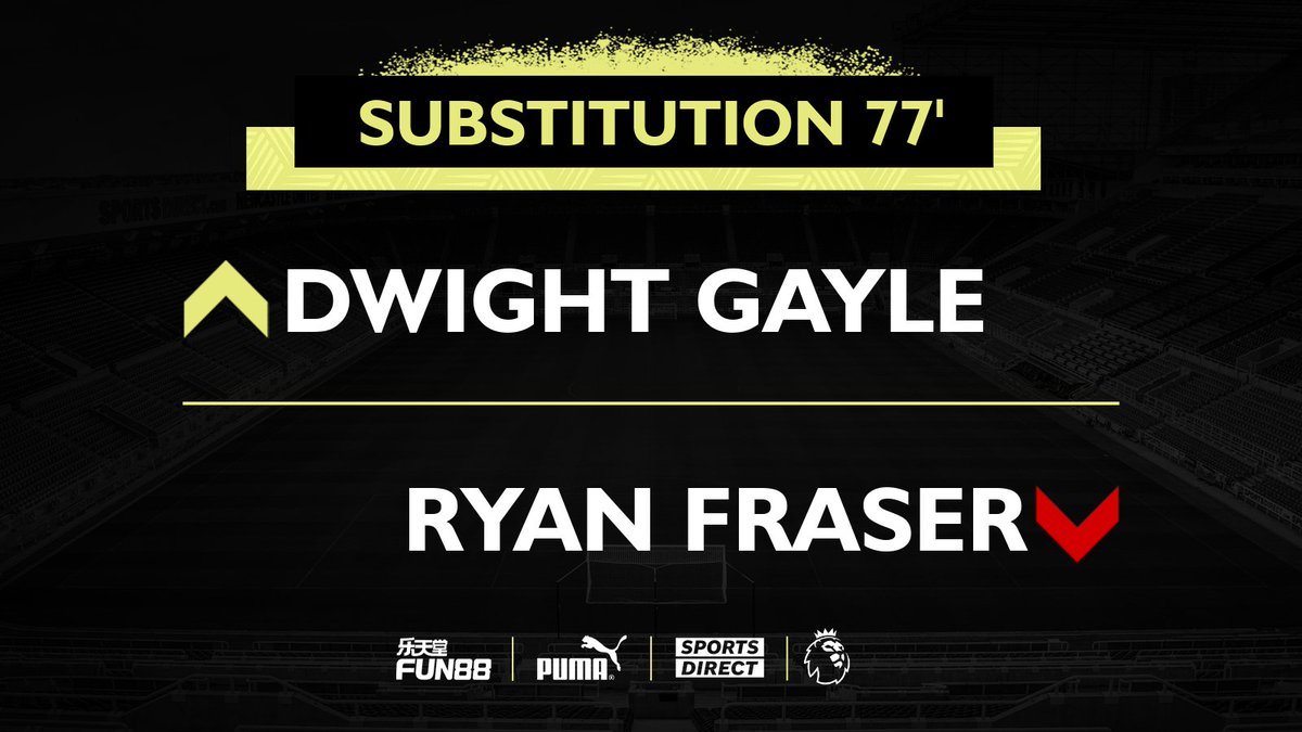 77' Substitution for the Magpies...  [1-2]  #NEWLEE   #NUFC