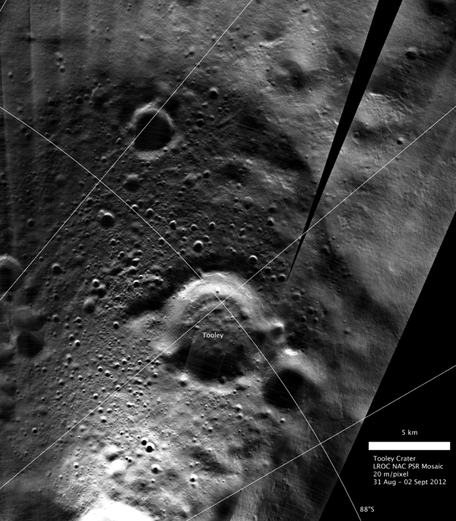 A Moon crater just got a new name: Tooley crater. This 7 km wide depression near the Moon's South Pole is named after the late Craig Tooley from @NASAGoddard in honor of his contributions to the exploration of the Moon and exploration science in general.