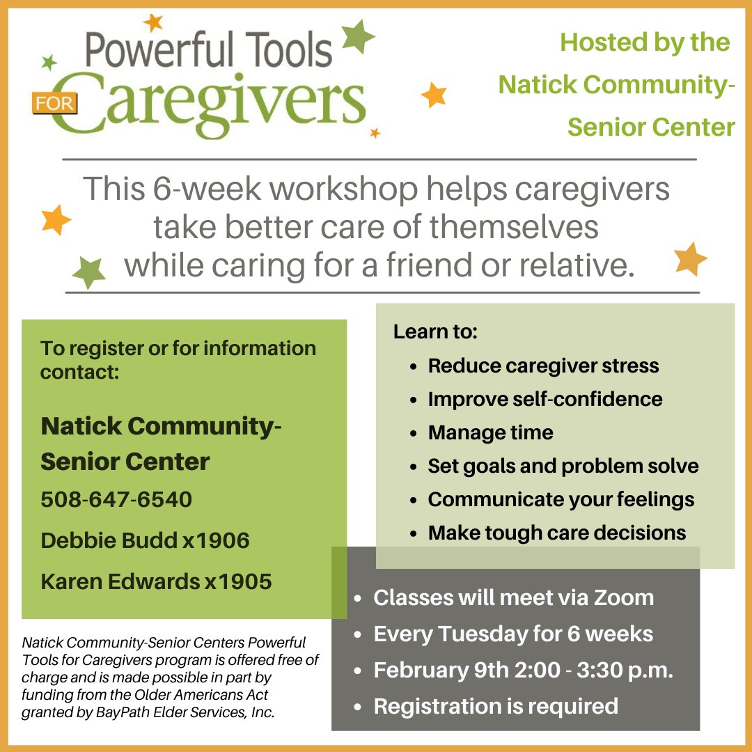 #Caregivers, learn some powerful tools to take better care of yourselves. @CaregivingMW