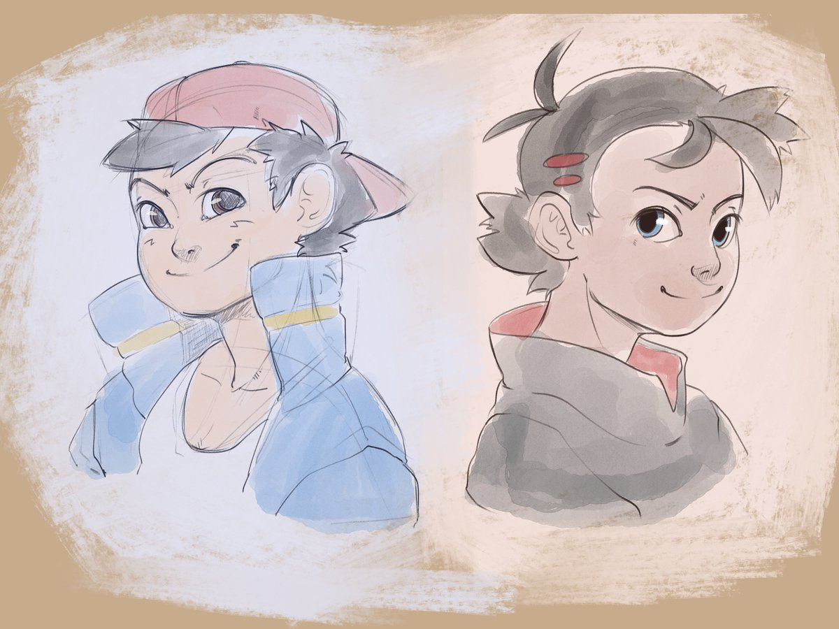 A couple of my warmups from a few days ago #artistsontwitter #Pokemon25