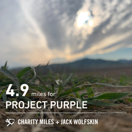 4.9 @CharityMiles for @Run4Purple. #EveryMileMatters #CharityMiles #ProjectPurple #PancreaticCancer #FiftyFans
