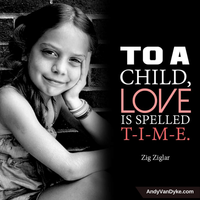 To a child, love is spelled: T-I-M-E #FamilyTime