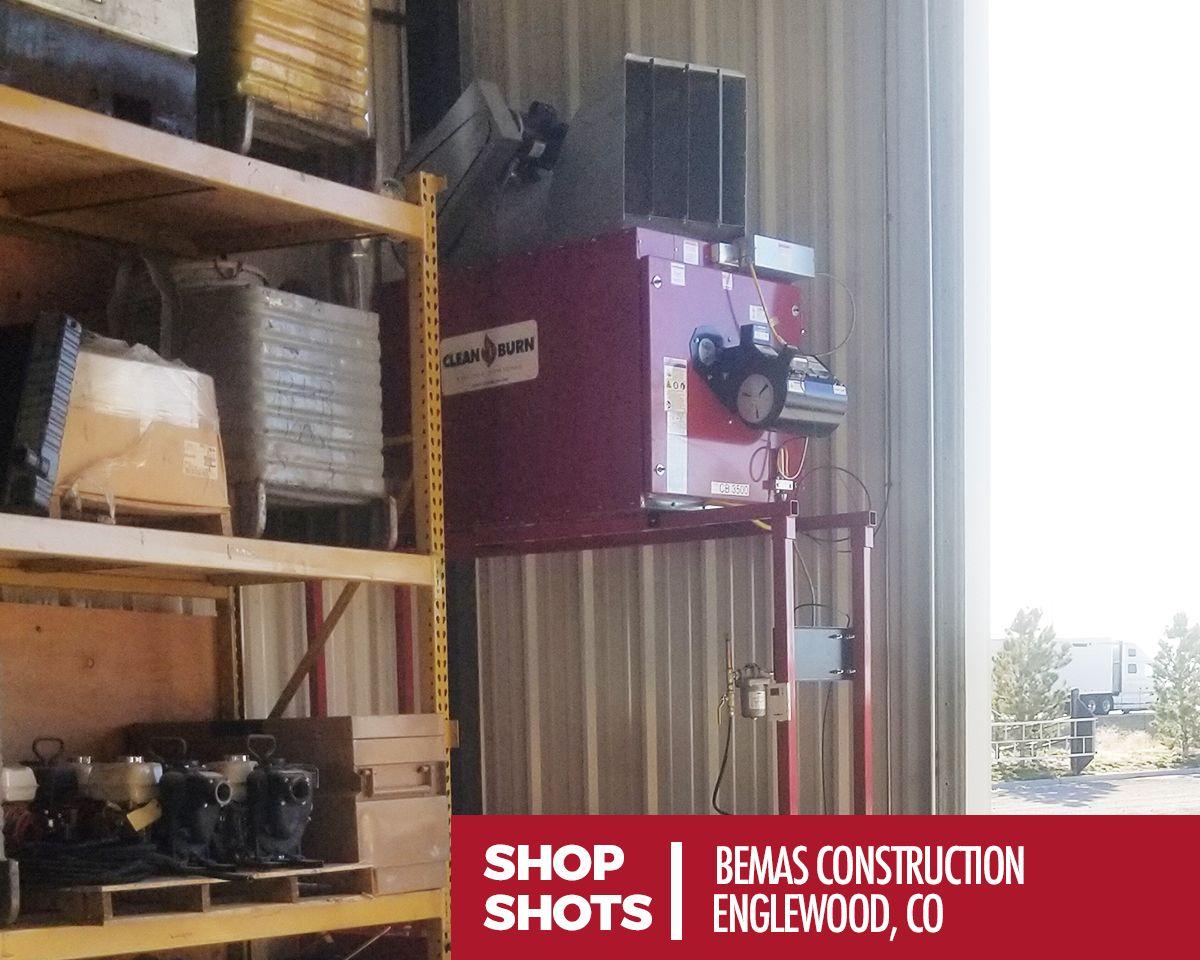 SHOP SHOT: Bemas Construction   Englewood, CO   #cleanburn #shopshot #recycle #autoshop #mechanic #carshop #cardealer #heat #HVAC #environmental #maintenance #freeheat #heating #winter #furnace