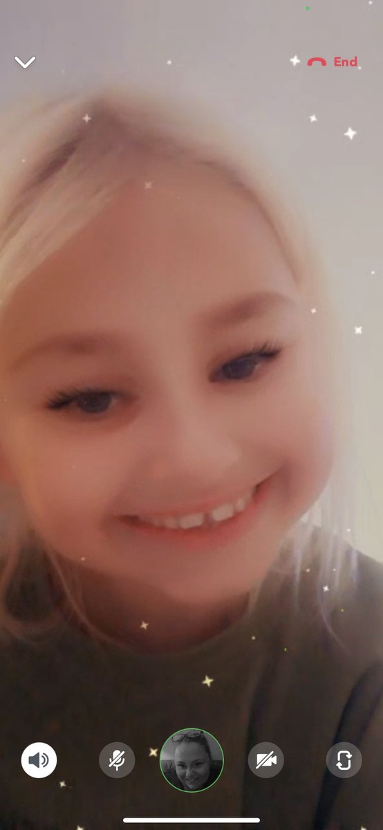 Video calls with this one give me the biggest smiles of the day. Today's consisted of using every filter available - whilst talking with an American accent (blame YouTube) - which is an improvement of just watching her play games on her iPad 🥰 #KidsToday #FamilyTime