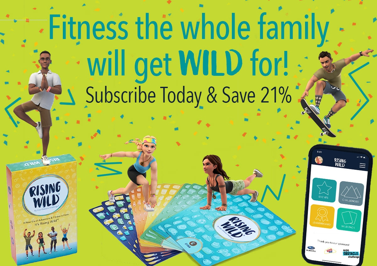 Get WILD about Family Fitness this year! Subscribe to Rising Wild today & save 21% on a 3 Month Full Subscription! Use Promo Code: 2021. 🤸♀️ 🏃♂️ . . . #HappyNewYear #NewYear #FamilyFitness #discounts #deals #fitness #family #apps #appsforkids #exercise