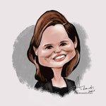 Image for the Tweet beginning: Geena Davis.   #caricatureResolution2021 #caricatureResolution #AlosaArts