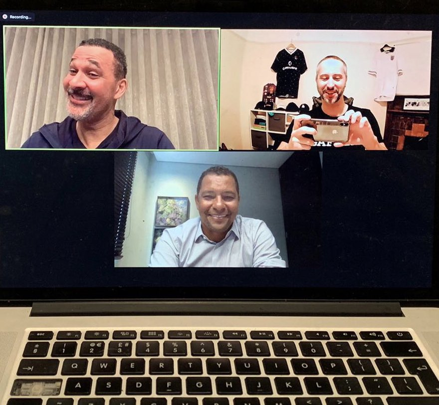 I have just finished filming a very special episode of my podcast with @timchasetc and my hero and legend @GullitR . This episode was hilarious , listen and laugh to The Invisible Wall podcast out at 6pm tomorrow #acmilan #arsenal #seriea #legend #podcast