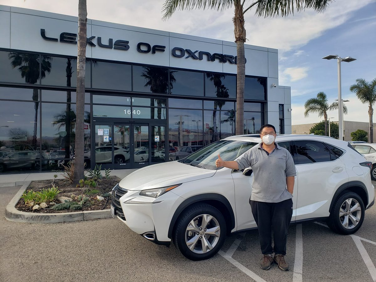Big Thumbs Up  Congrats to Mr. Yu on his new Lexus Nx200t! Thank you for your business and welcome to #LexusofOxnardFamily!  Five Star Service delivered by Angelo!!   #askforangelo #thankyou #congrats #thumbsup #happy #loyal #lexusofoxnard #LEXUSNX #newcar