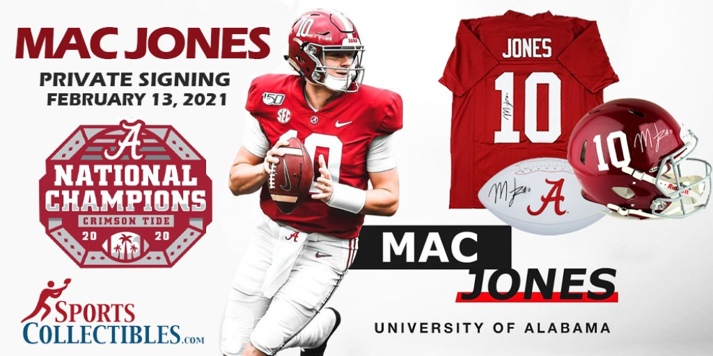 📣PRIVATE SIGNING ANNOUNCEMENT!📣 Fresh off @AlabamaFTBL's #NationalChampionship,🏈🏆 #MacJones will be doing his 1st ever private signing! Signing is Feb. 13th and mail in items will need to be in by the 10th. More info coming soon! Check our website for updates and pricing!