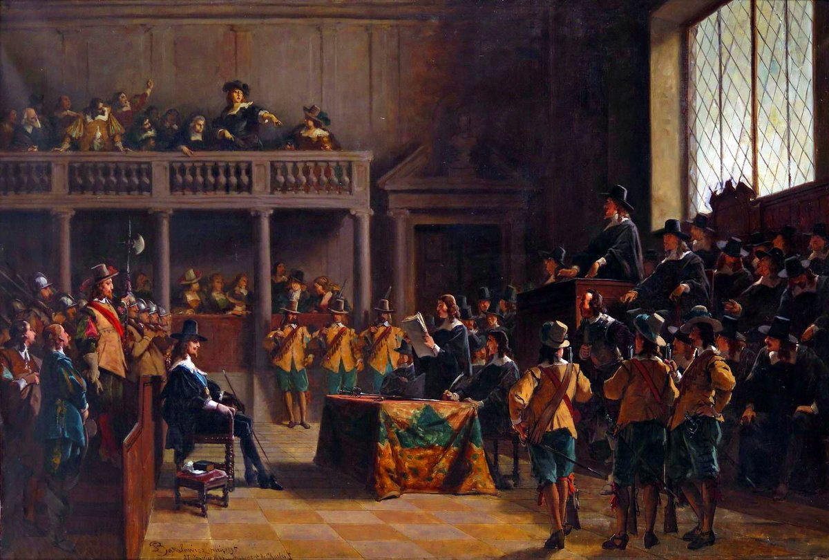 #TodayInMystery 1649 A Rump #Parliament, controlled by the Puritan army, convicts Charles I of #treason and condemns him to death. The monarchy will be restored to his exiled son after the fraught Commonwealth collapses only 11 years later.  #truecrime #history #onthisday #otd