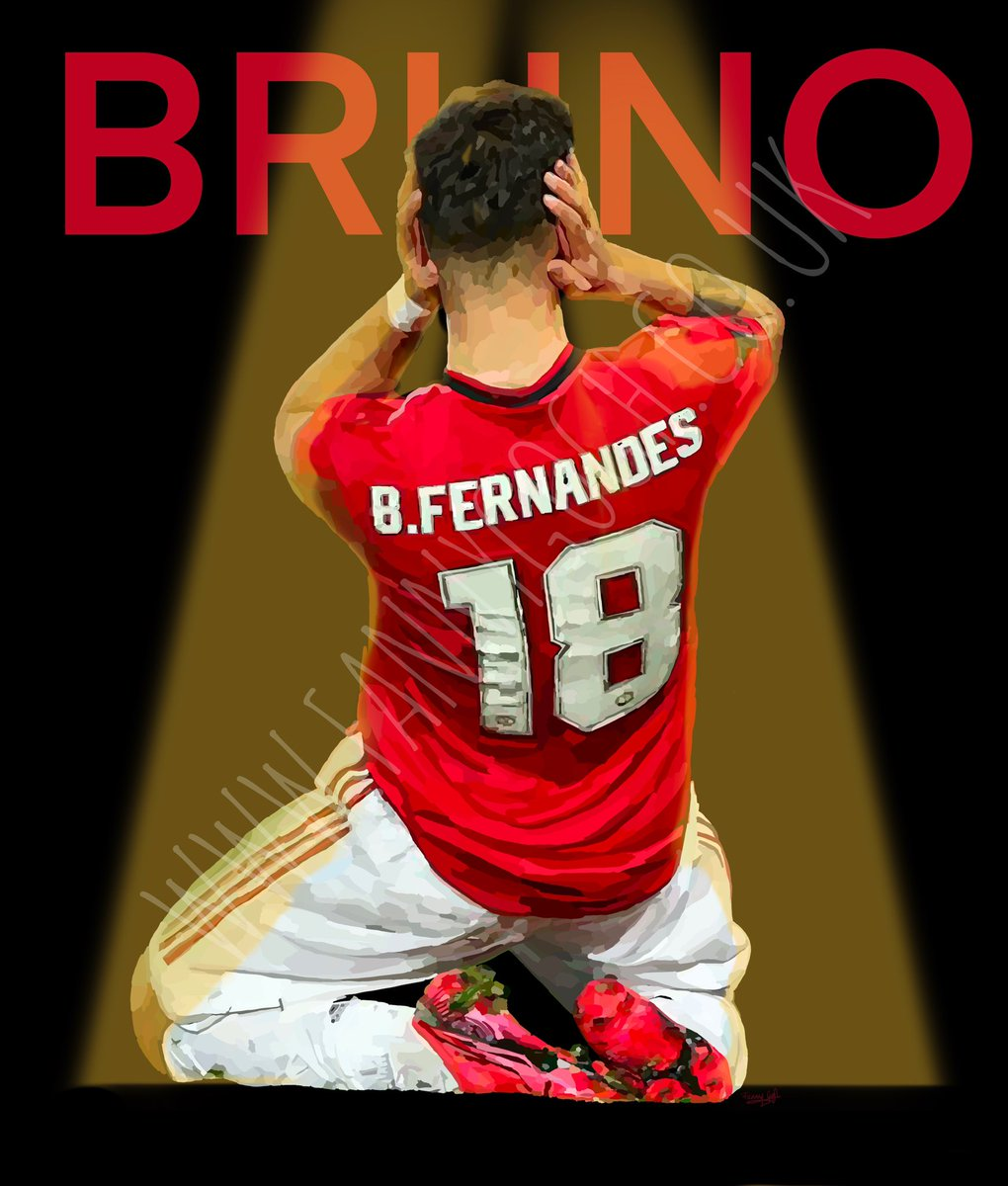 And heeeerrreees #brunofernandes get your print from the link above 🙏🏼✋🏻#ManchesterUnited #manu #ManUtd #MUFC_FAMILY #mufc