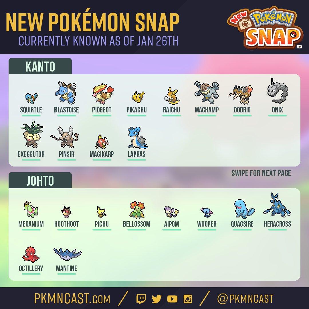 All the Pokémon (so far) shown for the New Pokémon Snap! 📸  #pokemonsnap #newpokemonsnap
