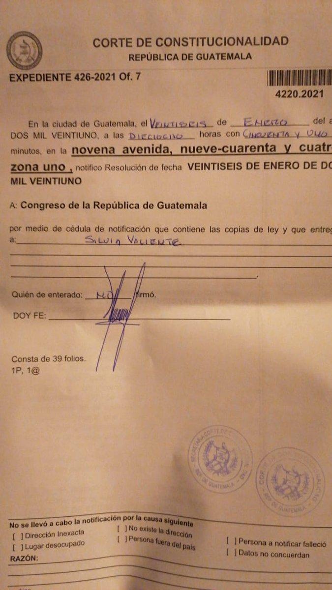 test Twitter Media - Comunicación Social de la @CC_Guatemala informa que la notificación ya fue recibida en el Congreso. Esto sobre el amparo interpuesto por el abogado Alfonso Carrillo por la amenaza que se juramente al juez Mynor Moto como magistrado de la CC https://t.co/DQb3gNvUT0