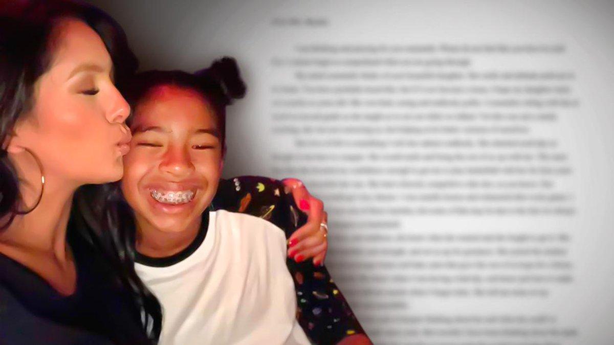 En español: la carta que la esposa de Kobe Bryant recibió de una amiga de su difunta hija.