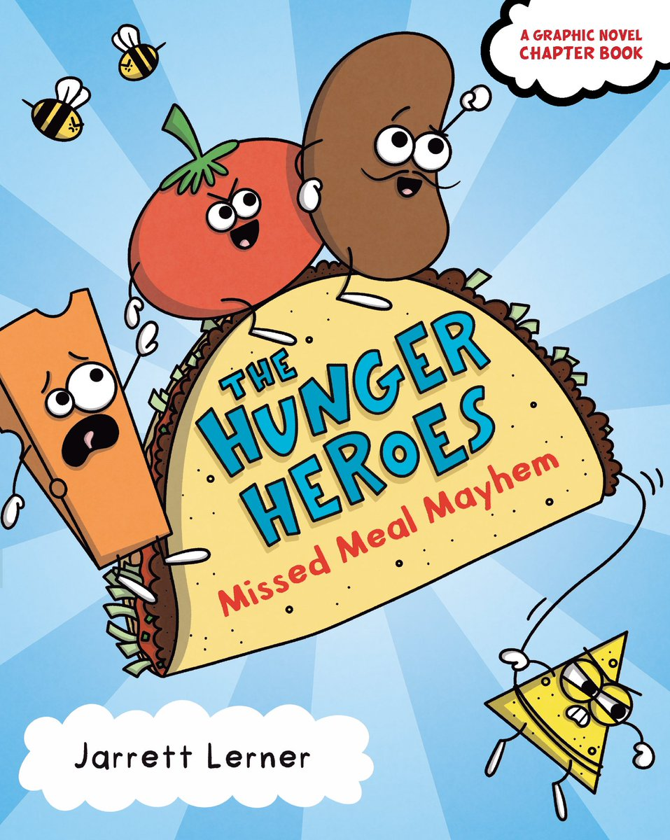 I am RIDICULOUSLY EXCITED to share the cover of the first graphic novel in my Hunger Heroes series! Missed Meal Mayhem will be soaring onto bookshelves near you this September!