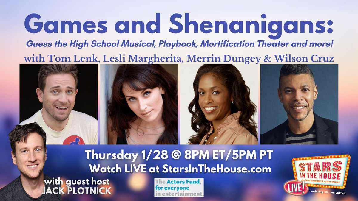 I look forward to losing at any and all games to these gorjus talented people!!!! @QueenLesli @RealMerrinD @wcruz73  Also, build a TV show around this perfect cast you cowards! AM I RIGHT OR WHAT?! It's already my new favorite show! @StarsInTheHouse guest hosted by @JackPlotnick! https://t.co/SXK01JtWoQ