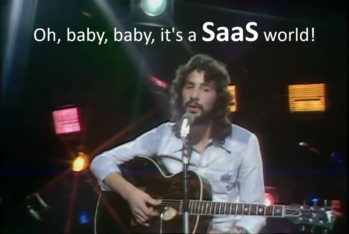 Oh, baby, baby, it's a SaaS world!  #SaaS #Cloud #hybridcloud #Commvault #IT #digitaltransformation #retro #oldies #ThrowbackThursday #AI