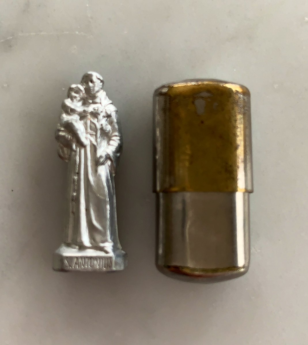 My family was decimated by the holocaust, experimented on & murdered at #Auschwitz   My grandma hid & survived. She carried this token to keep her safe. Anthony, patron saint of lost things & people I carry it with me in my wallet everyday #LestWeForget  #HolocaustRemembranceDay