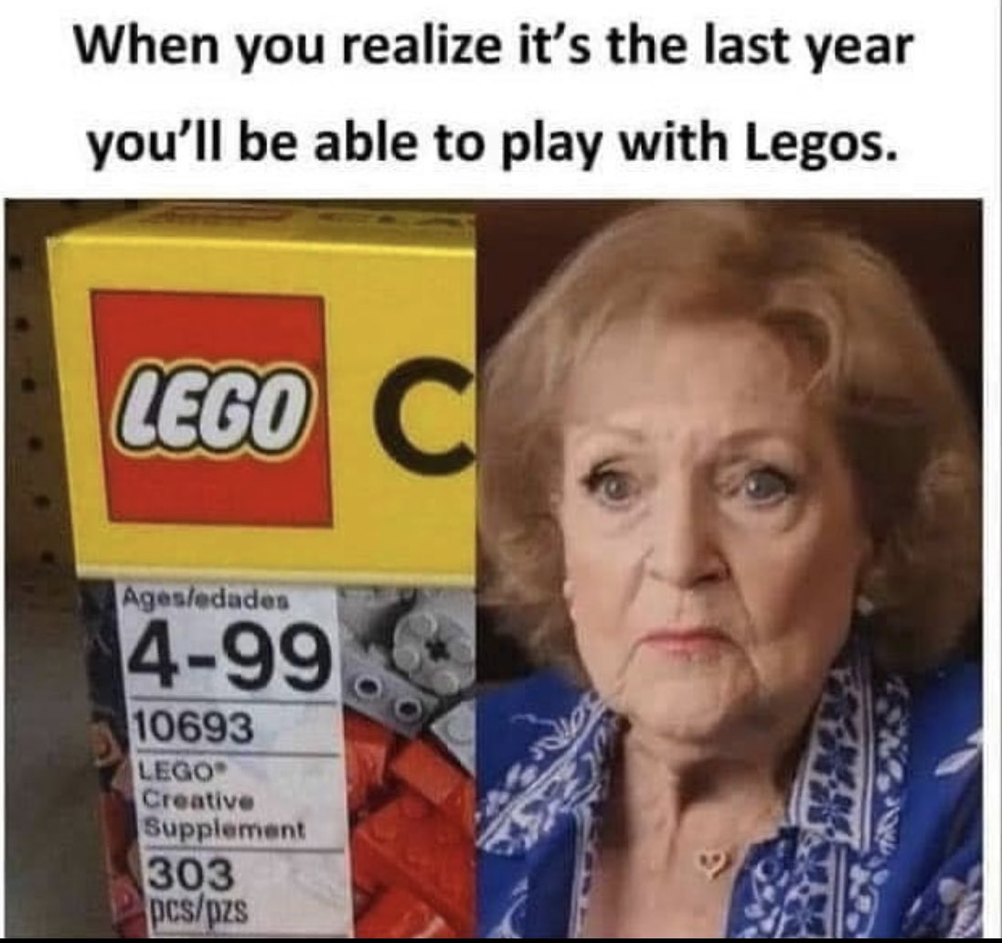 Y'all should leave Betty White alone 😂🤣 #bettywhite #lego #agelimit