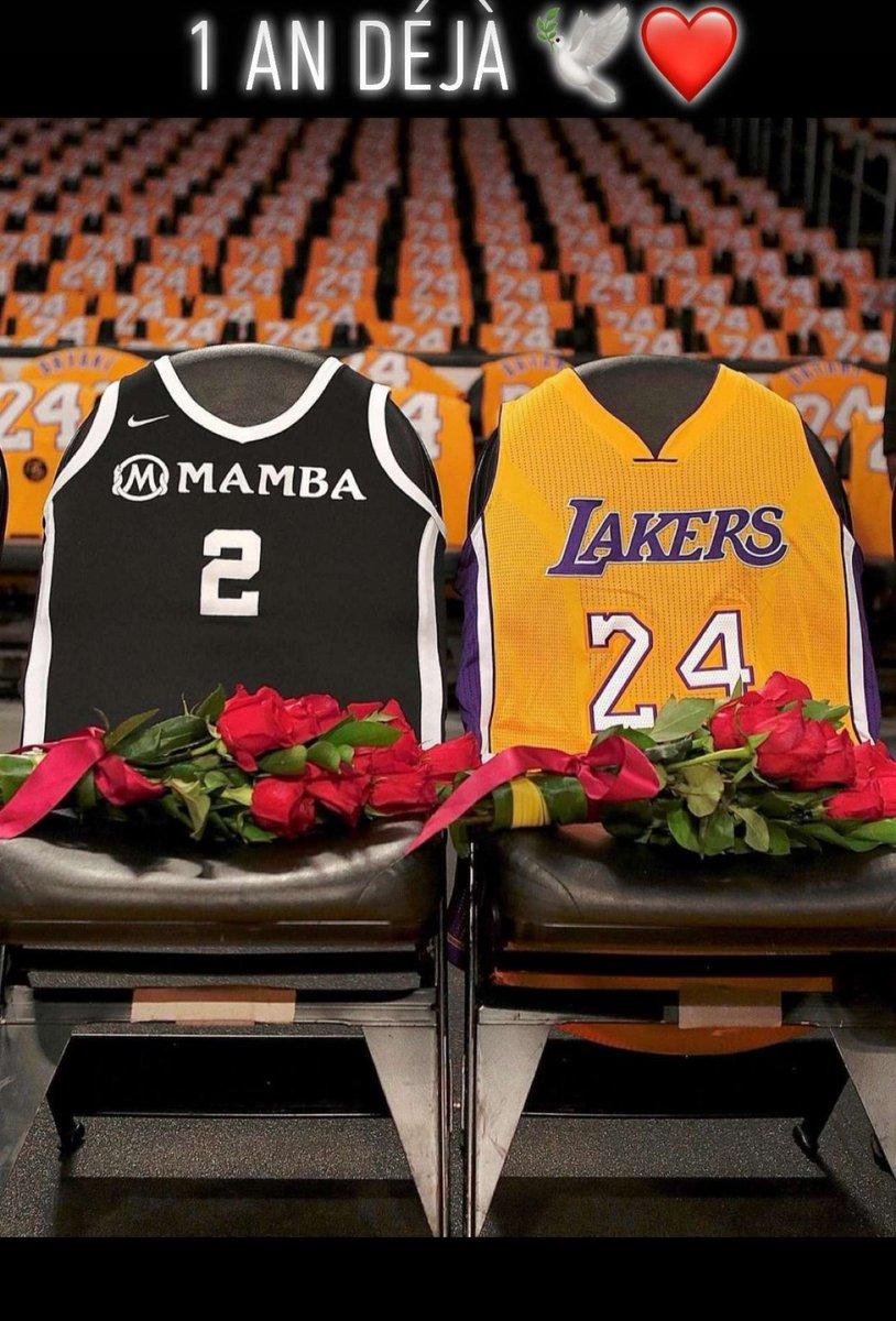 one years already you're leaving us #MambaForever @kobebryant ♥️🕊🙏