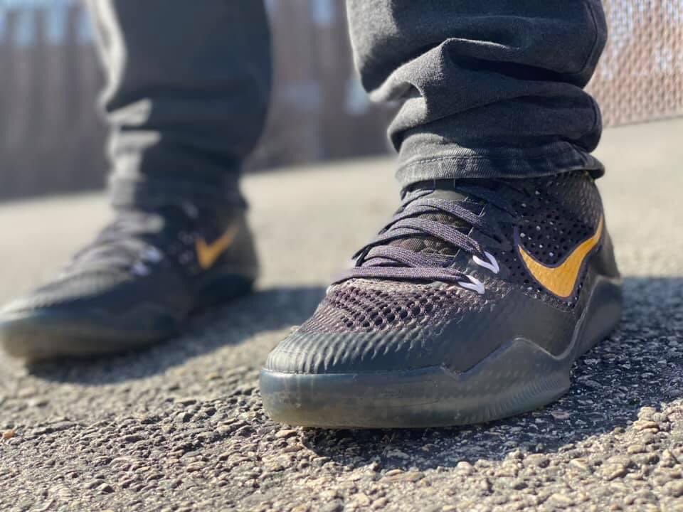 In honor of the 🐐im wearing my Kobe Carpe Diems. I grew up watching him play he has always been my fav Bball player and his shoes have always been my fav to wear. Miss you Kobe. I would love to see my fellow sneakerheads rocking kobes today! #MambaForever @News4SA @KABBFOX29