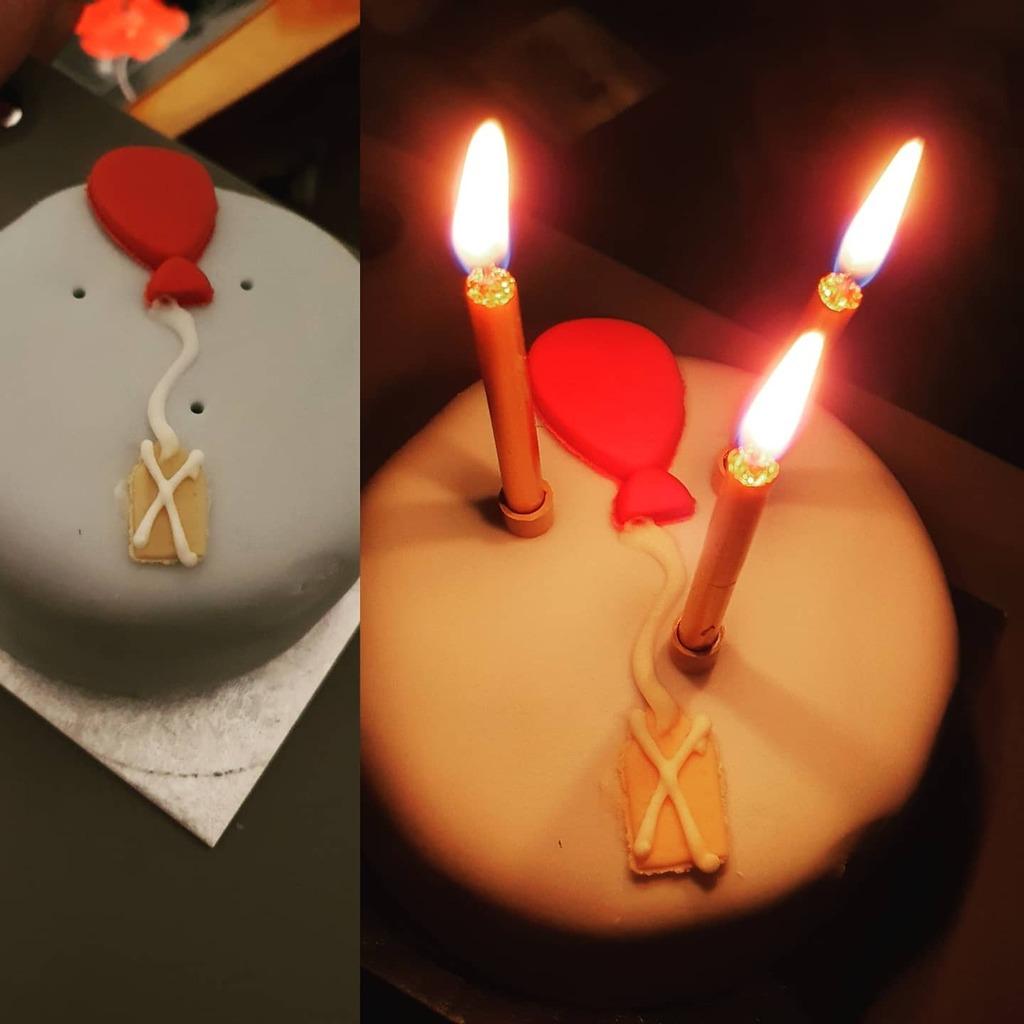 Yay mini birthday cake 🎂🥳🥳🎉🎉🎊 #happybirthdaytome #happycakeday
