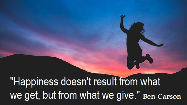 """Happiness doesn't result from what we get, but from what we give."" Ben Carson #GivingTuesday"