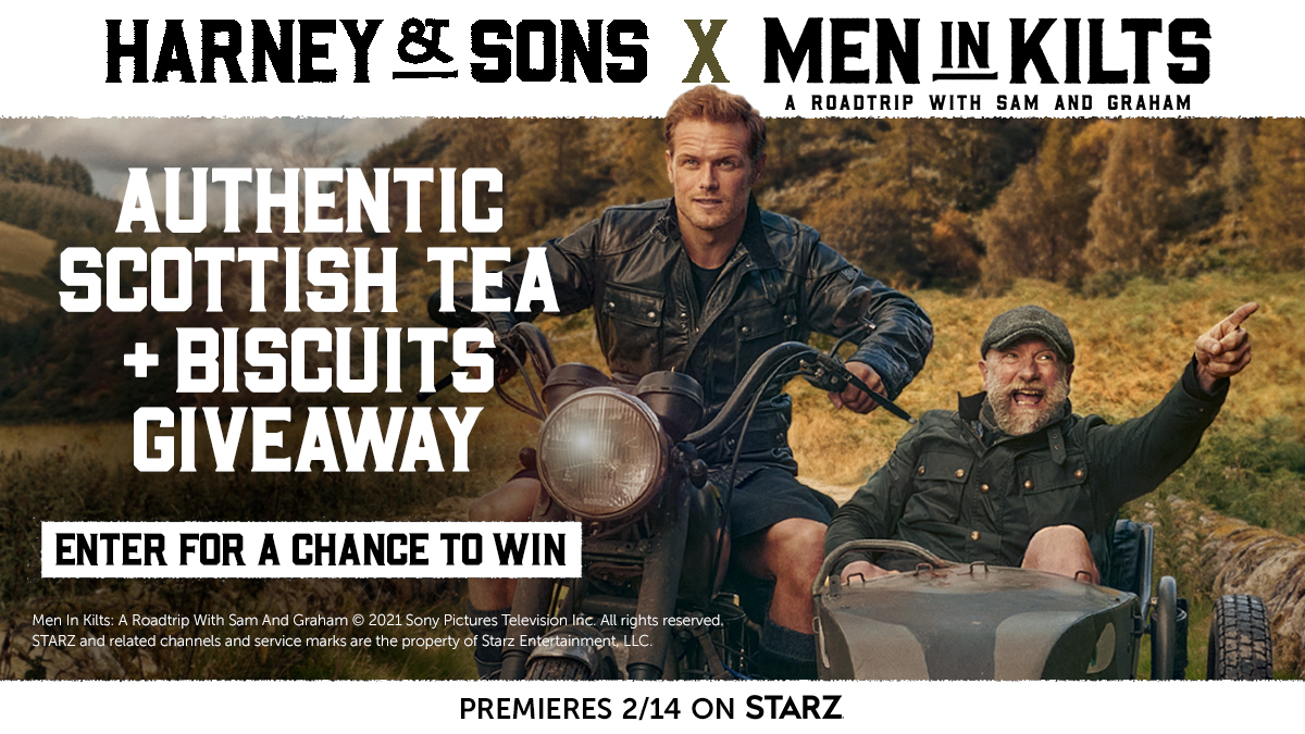 #MenInKilts is thrilled to partner with @HarneyTea to celebrate the premiere and bring you a very Scottish giveaway! Enter today for your chance to win authentic tea, biscuits, and more to make your viewing experience extra special: