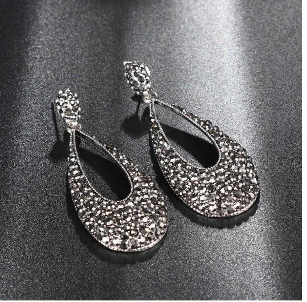 Women's Black Magic Drop Earrings #food #tflers