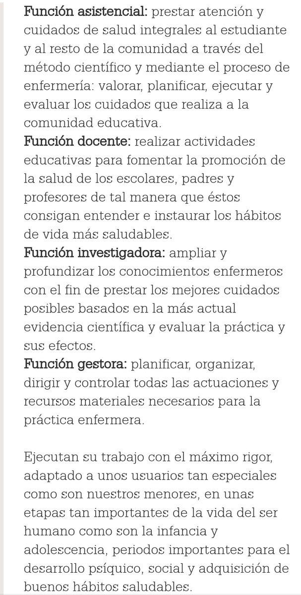 #eduhora270 #enfermeríaescolar #funciones