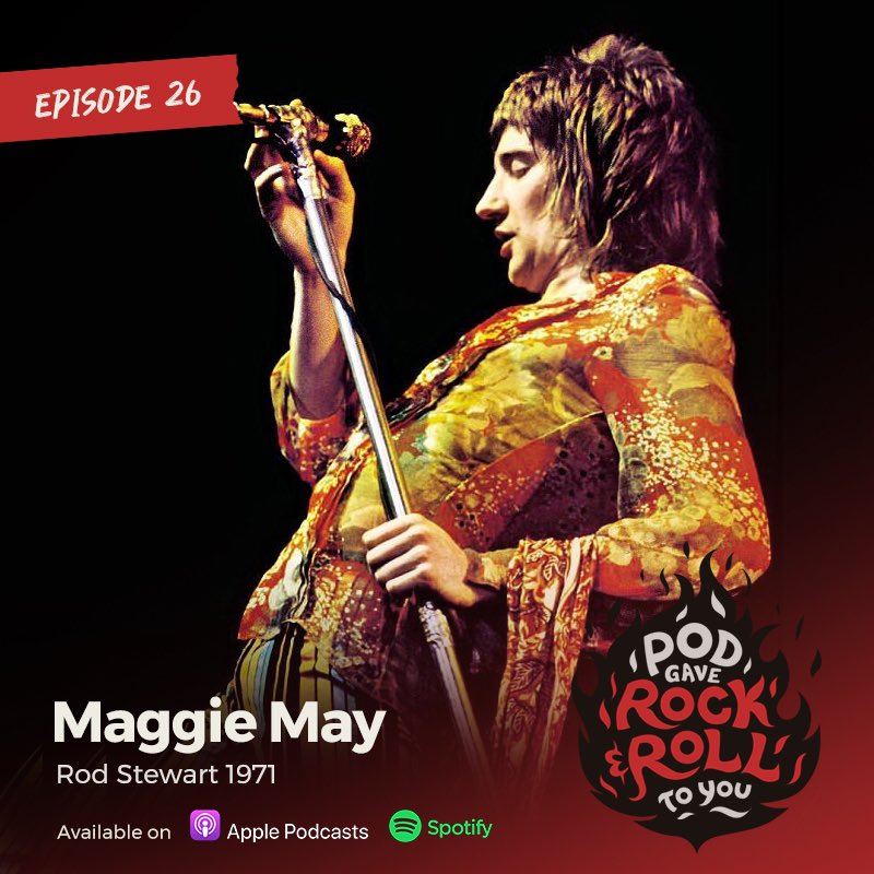 """Take a trip with us back to the golden age of rock, drugs, and hair as we explore the vibey goodness of Rod Stewart's 1971 classic """"Maggie May""""  #rodstewart #maggiemay #1971 #rock #rocknroll #hair #pubes #models #drugs #podgaverock #podcast  #podcastersofinstagram #podcastlife"""