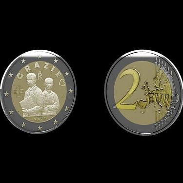 Italia dedica una moneda de 2 euros al personal sanitario como reconocimiento a su trabajo y dedicación durante la pandemia. GRAZIE. ¡De corazón, gracias¡ #italia #euro #grazie #pandemia