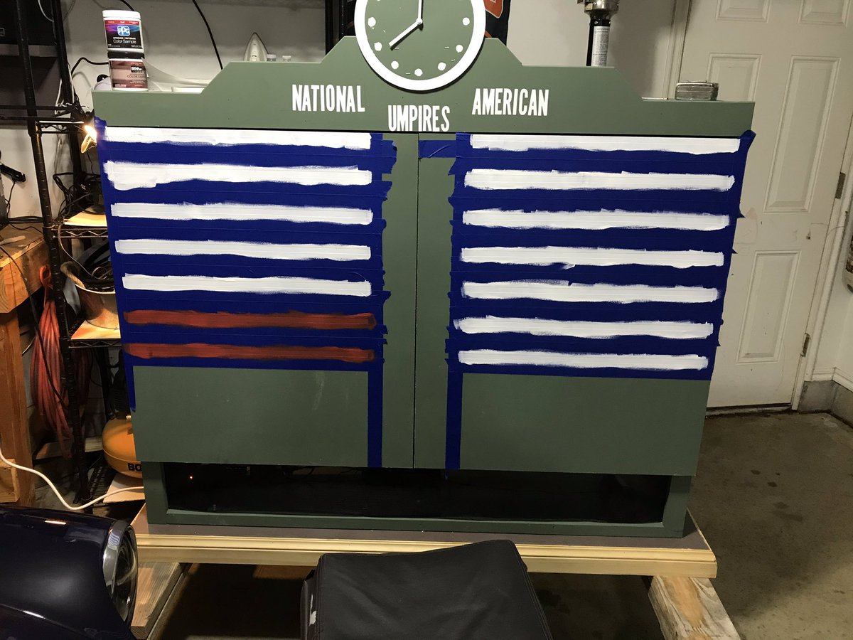 @jimmyfallon I made this mobile Wrigley Field scoreboard TV cabinet so I could still have watch parties outside with my neighbors and stay distanced. But the Bears, Blackhawks and Cubs are no fun to watch. #MyWorstInvention