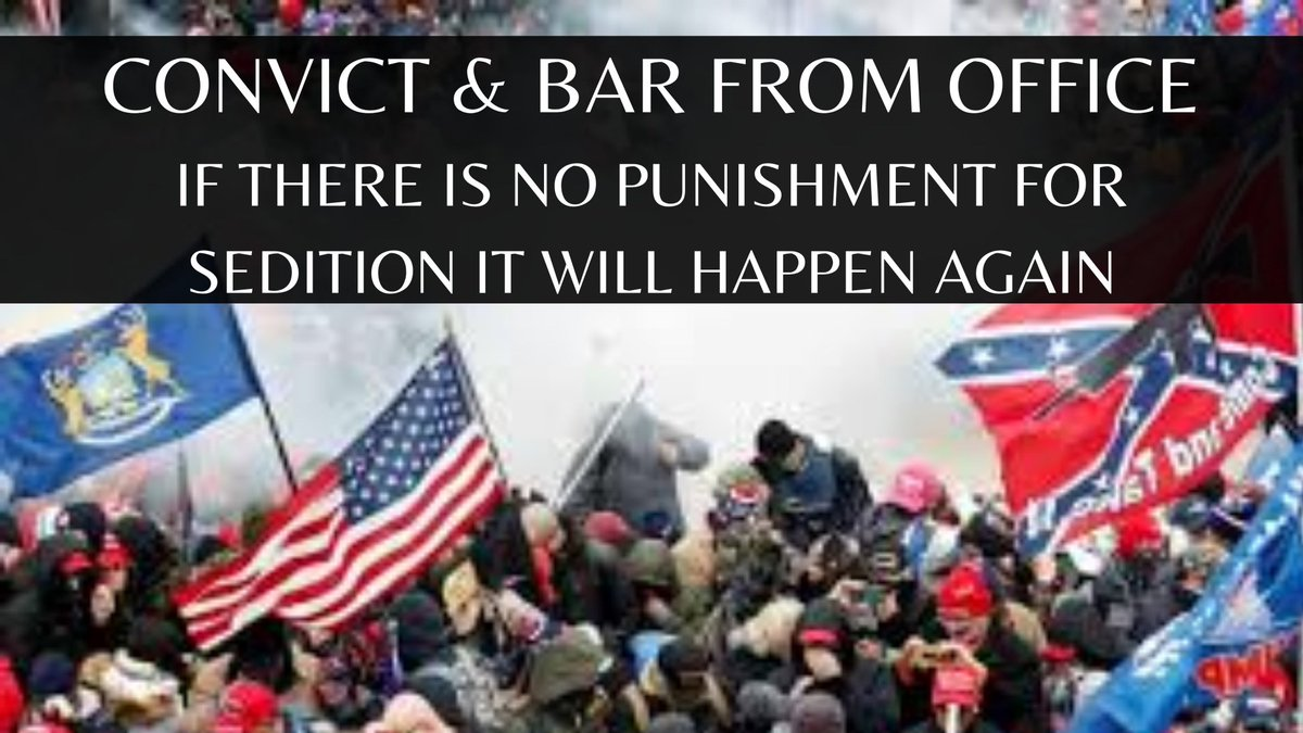 Trump incited a mob and he knew terrorists like the Proud Boys and the Boogaloo Bois were present.  If that's not an attack of our Constitution, I don't know what is. The Senate swore an oath to defend that Constitution.  #ONEV1 #ImpeachAndConvict