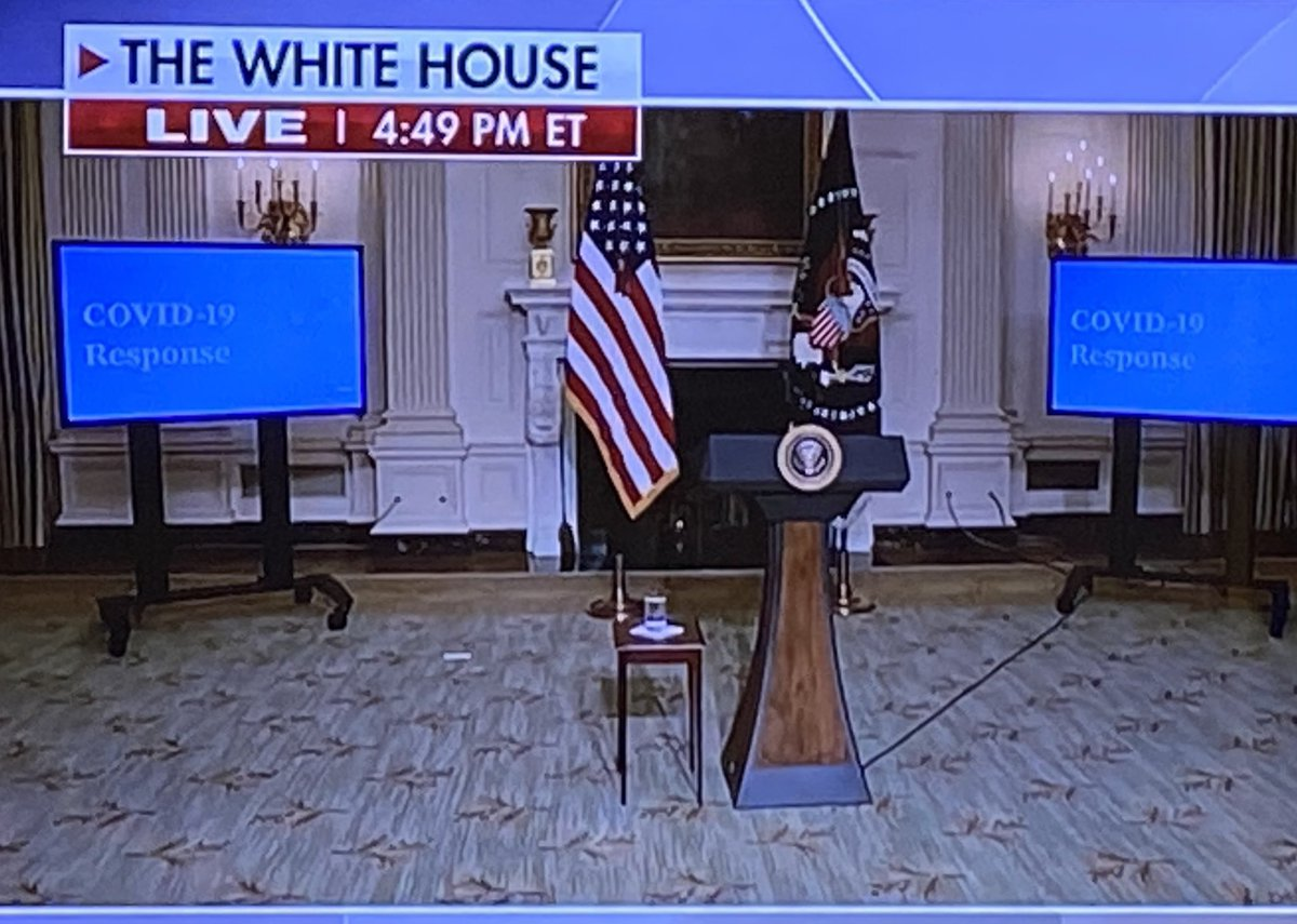 Look how terrible that cord looks going across the floor.  You would have never seen that at the Trump Whitehouse.  But sleepy Joe will never notice... https://t.co/AIpQotoajS