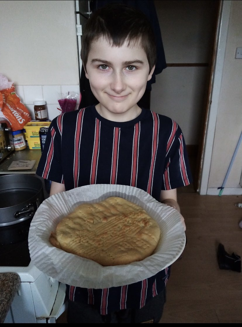 Scrumptious Scottish shortbread created by this creative P7! Will you take part in the Great Woodside Cook Off? #scottishfortnight #lifeskills #familytime @woodside_school