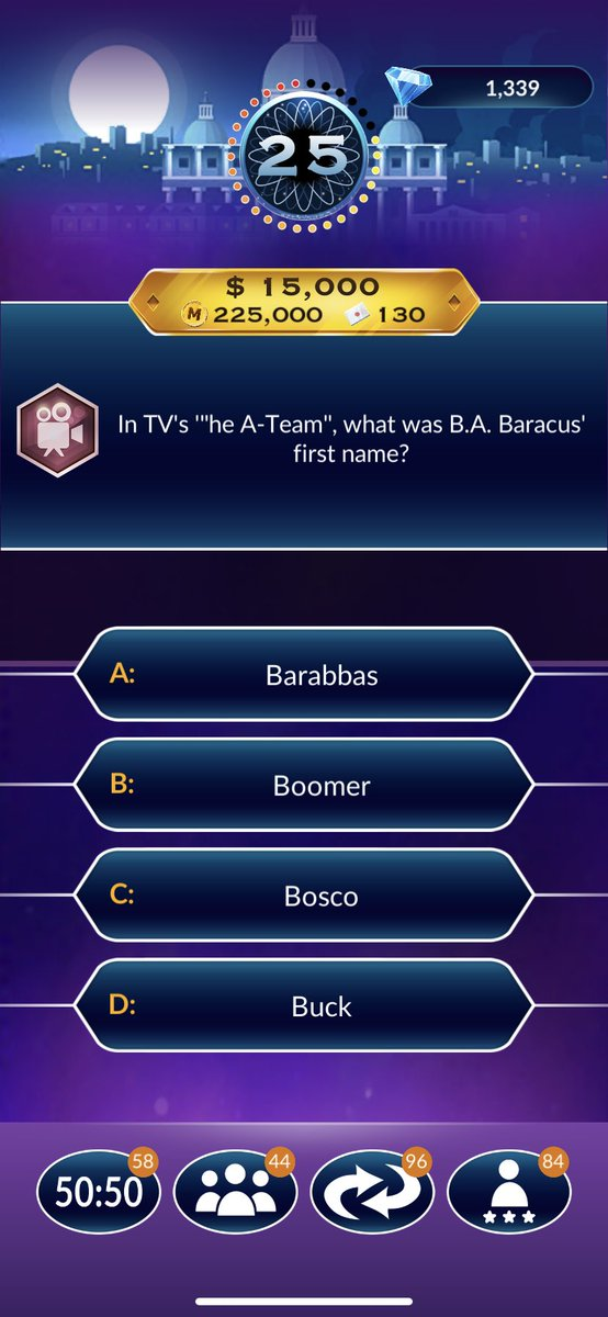 Possibly the easiest #WhoWantsToBeAMillionaire question ever to anyone who grew up in the 80s. #BringOnTheDukeBoys