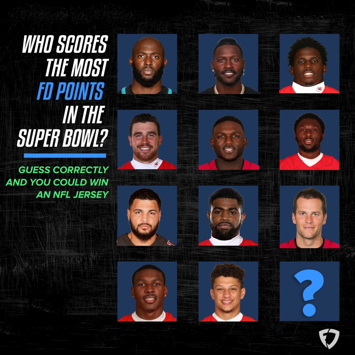 🚨 GIVEAWAY ALERT 🚨   Want to win an NFL jersey of your choice? To enter the sweepstakes:  1️⃣ FOLLOW us: @fanduel 2️⃣ REPLY your guess below 3️⃣ RT this post  One winner will be selected at random on 2/8.  Rules:
