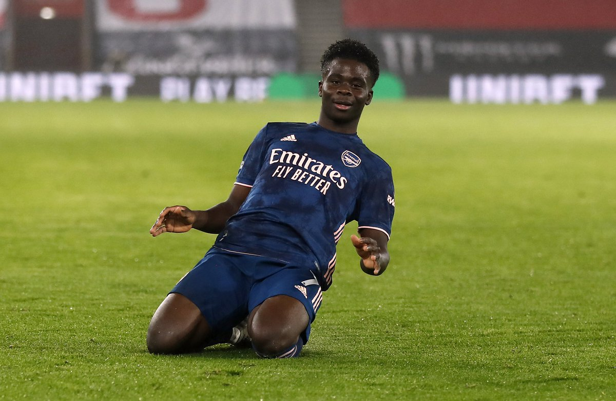 Bukayo Saka is way above every teenager in the premier league.  #SOUARS