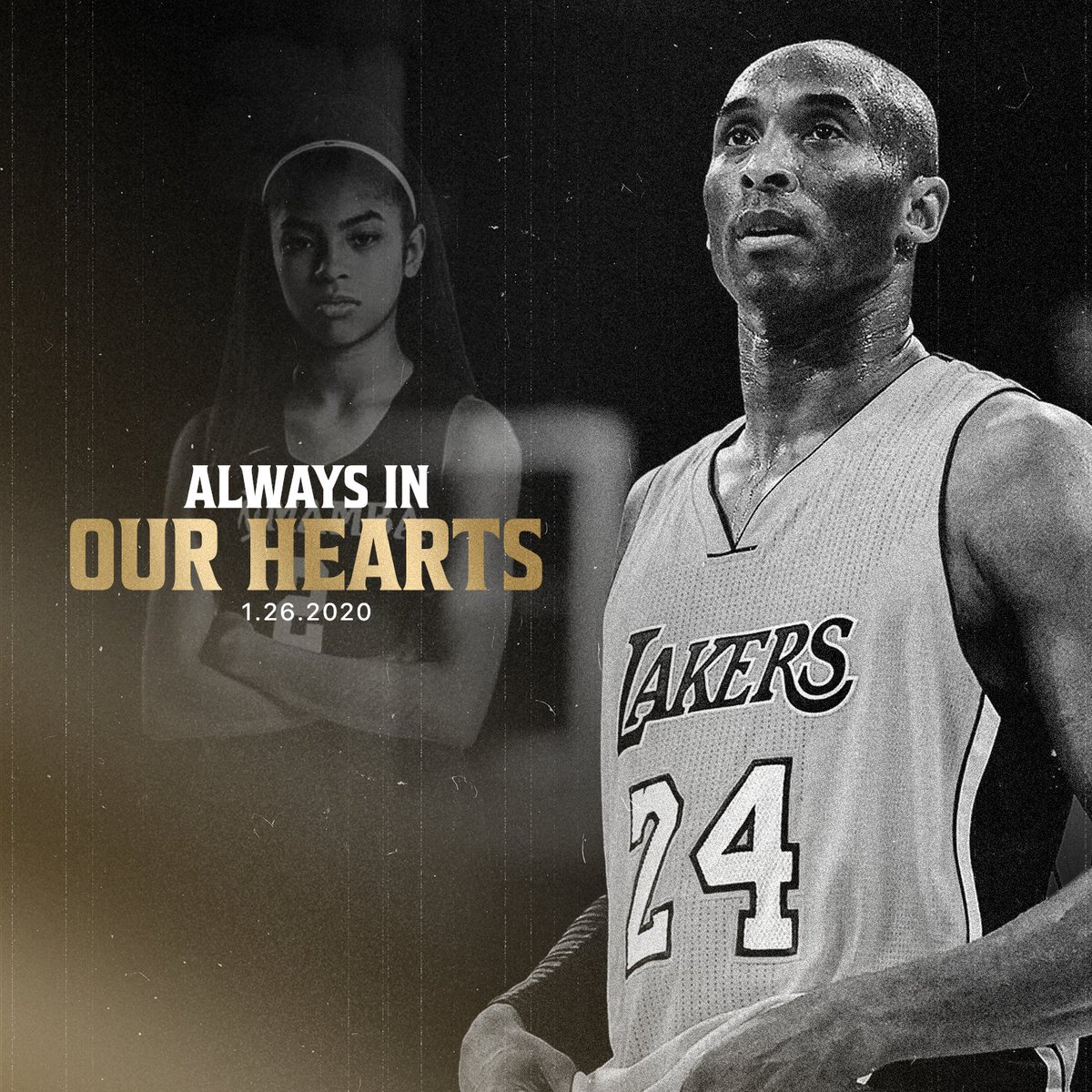 """""""Heroes come and go, but legends are forever.""""  Remembering Kobe, Gigi, and everyone who lost their lives in that tragic accident a year ago. Rest in peace.  #MambaForever #KobeBryant"""
