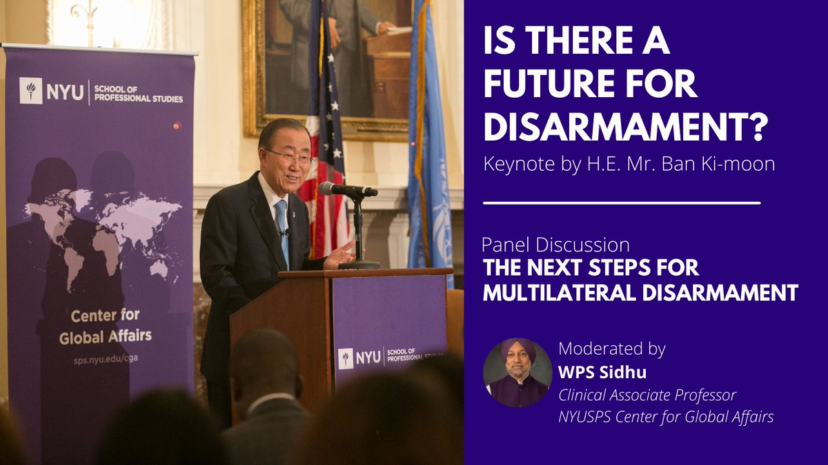 In celebration of the @UN Treaty on the Prohibition of #NuclearWeapons, we revisit our 2016 event featuring a keynote by #UNSG Ban Ki-moon followed by a panel moderated by @wpssidhu. Watch both here:   #TPNW #NYU #UN