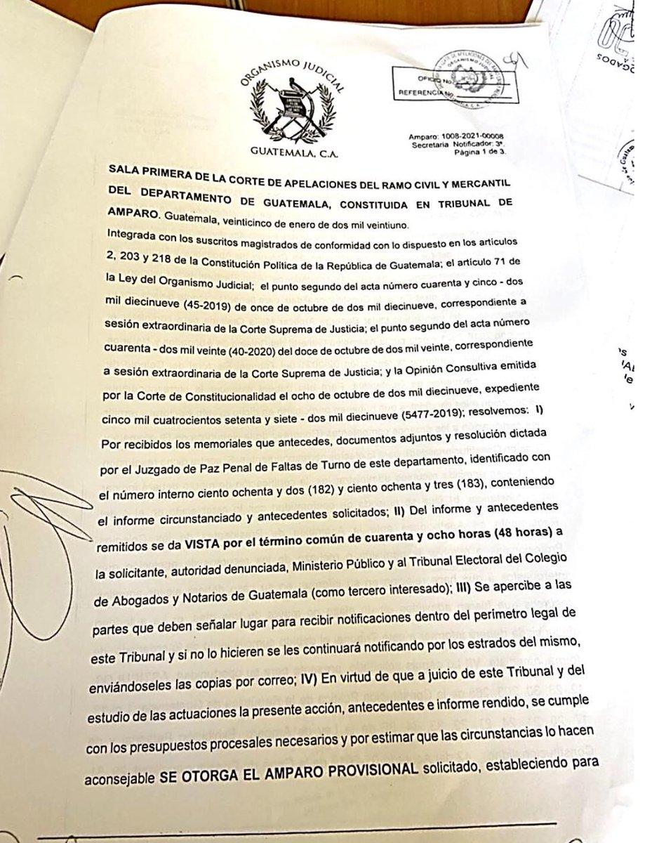 test Twitter Media - La Sala Primera de la Corte de Apelaciones ordenó a la Junta Directiva del CANG en el plazo de 4 horas se proceda con la juramentación de Mynor Moto como magistrado de la CC. https://t.co/w53BQdf9Ec