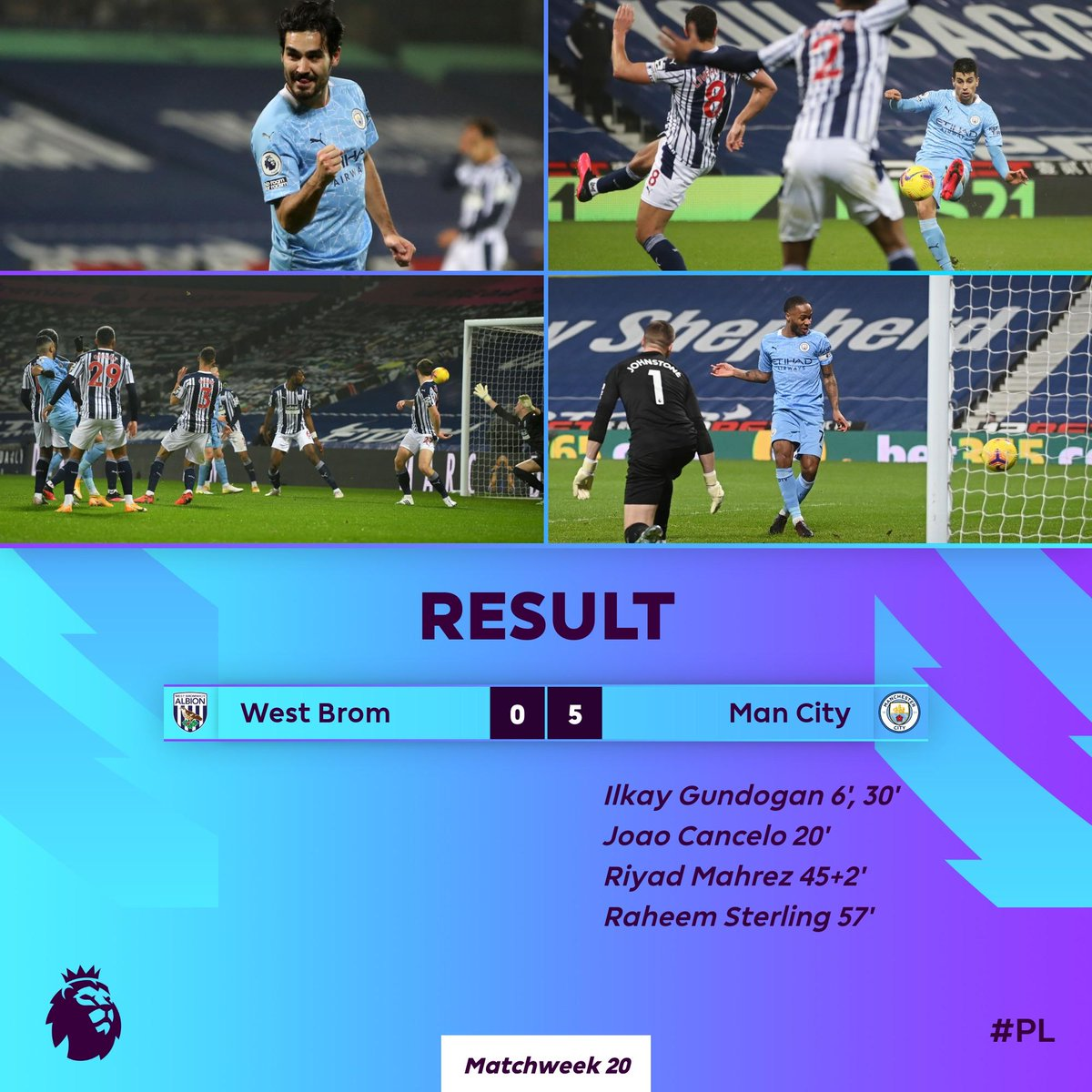 Man City go top of the #PL with an emphatic win at The Hawthorns  #WBAMCI