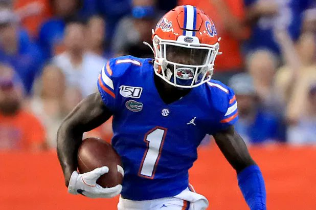 """""""I don't think anybody helped themselves more by coming back to school last year than Kadarius Toney."""" - @Frank_Frangie   """"You can make the case he was the most consistent player for the #Gators from start to finish."""" - @HaysCarlyon"""