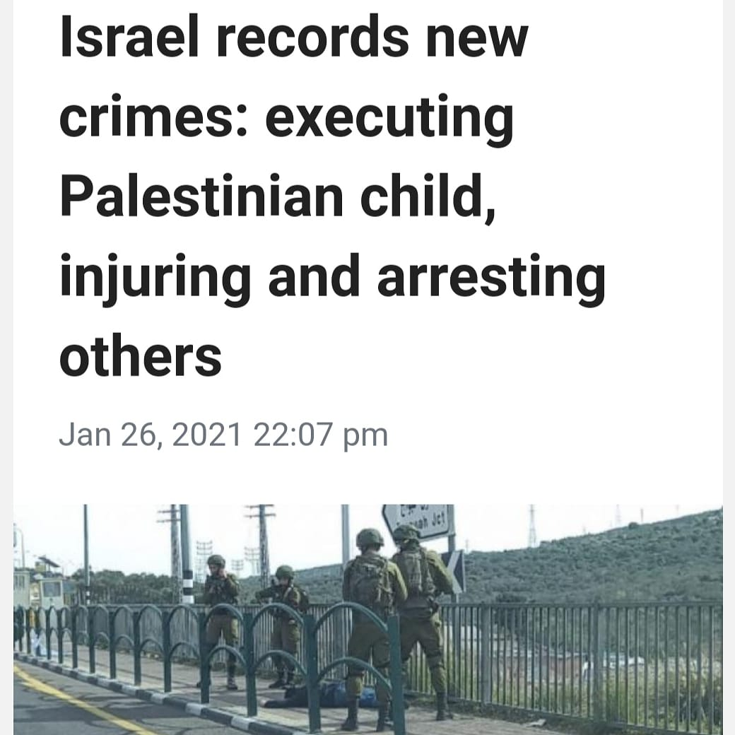 The everyday crimes of #ApartheidIsrael. Yes those crimes include executing children. #Palestine.